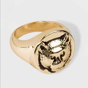 Wild fable Tiger Signet Ring size 7